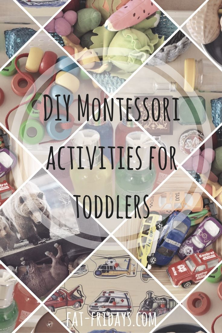 DIY Montessori Activities for toddlers. Read about introducing and changing new toddler activities, how to make these toddler activities at home and where to buy the materials. #Montessoriactivities #toddleractivities #activitiesforkids #fatfridays