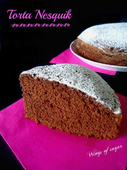 Torta nesquik ricetta semplice, una torta morbidissima che accompagnata ad una tazza di latte allieterà la vostra giornata- wings of sugar blog
