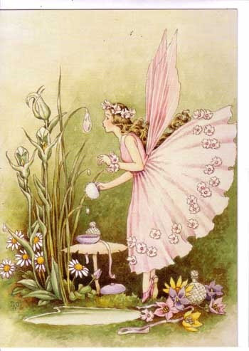 IDA RENTOUL OUTHWAITE darling flower skirt fairy illustration