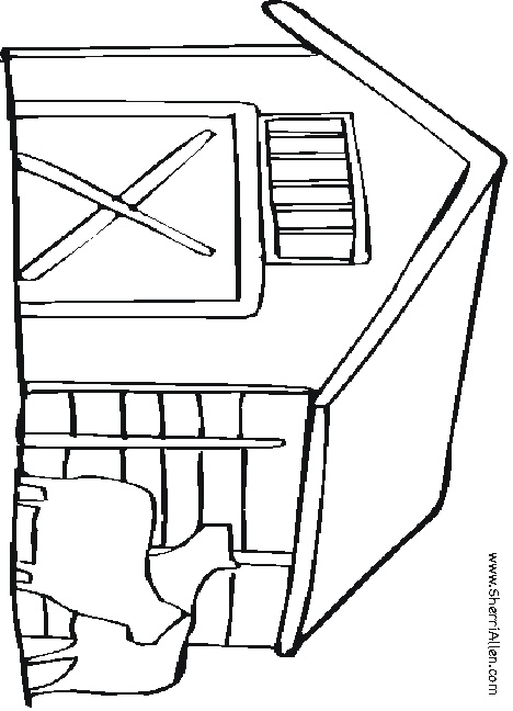 farm coloring sheets - Barns Coloring Pages Farm Silos