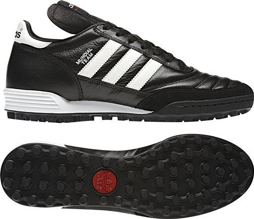 Probably the most iconic turf shoes of all time, the Adidas Mundial Team turf shoes might not be lightweight, but the performance and comfort is out of this world. Get your Adidas turf shoes today at SoccerCorner.com  http://www.soccercorner.com/Adidas-Mundial-Team-Turf-Soccer-Shoe-p/st-ad019228.htm