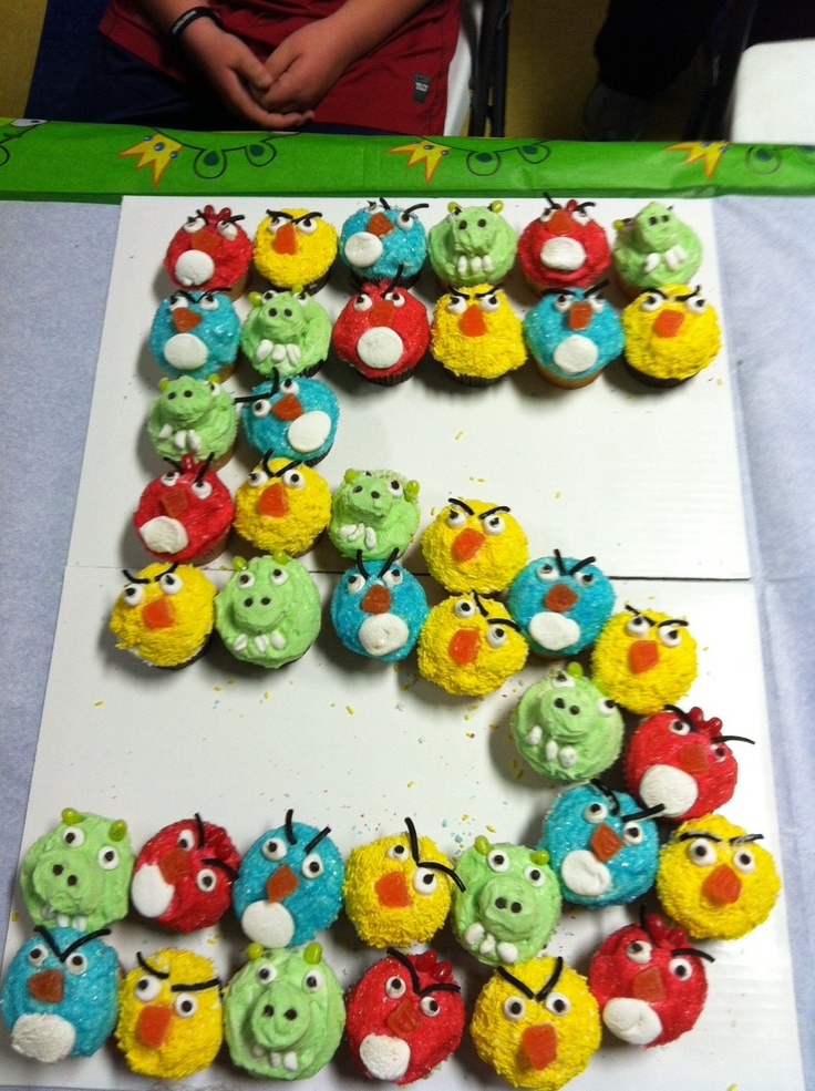 Made these angry bird cupcakes for my son's 5th birthday...he loved them!