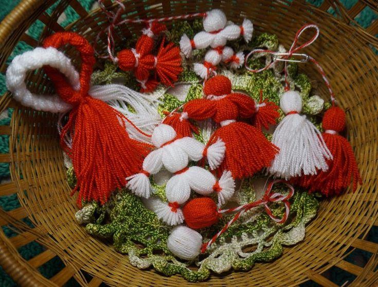 Set of 5 Martisor, Spring symbol of Brooch style, Unusual gift, Moldova, Romania