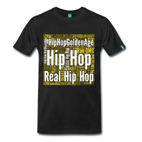 Hip Hop Artists Wordcloud - TShirt | Webshop: http://hiphopgoldenage.spreadshirt.com/hip-hop-artist-wordcloud-A16385750/customize/color/2