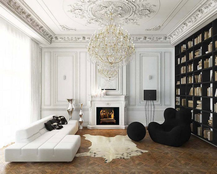 Interior Ideas In Black And White Chic And Elegance This Week We Re Telling The Glamstory Subtle Basics Brilliant Metals And Meaning Interior Design Living Room Room Interior Design Living Room