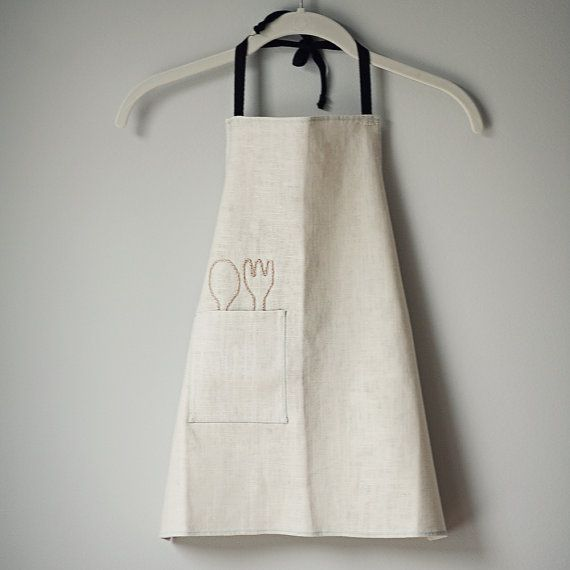 for little one - linen apron