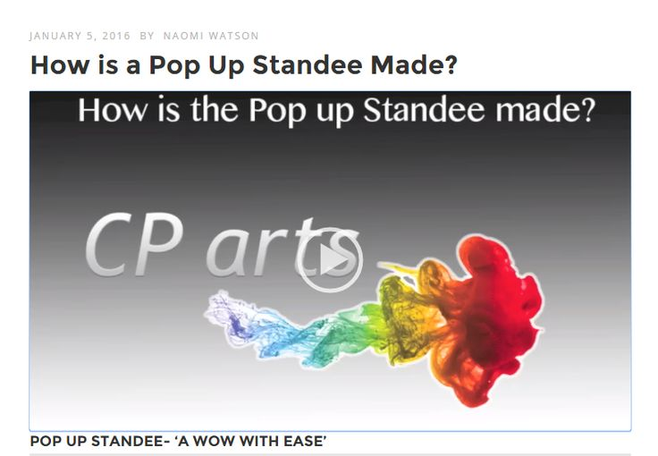"Check out our first ""How to"" Video..How the Pop Up Standee is made"