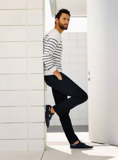 Horizontal Stripes for Men | Famous Outfits