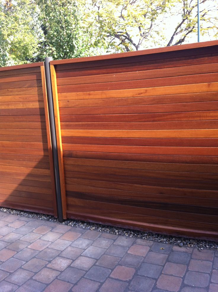 Exotic Hardwood Fencing supplied by Kayu Canada Inc.