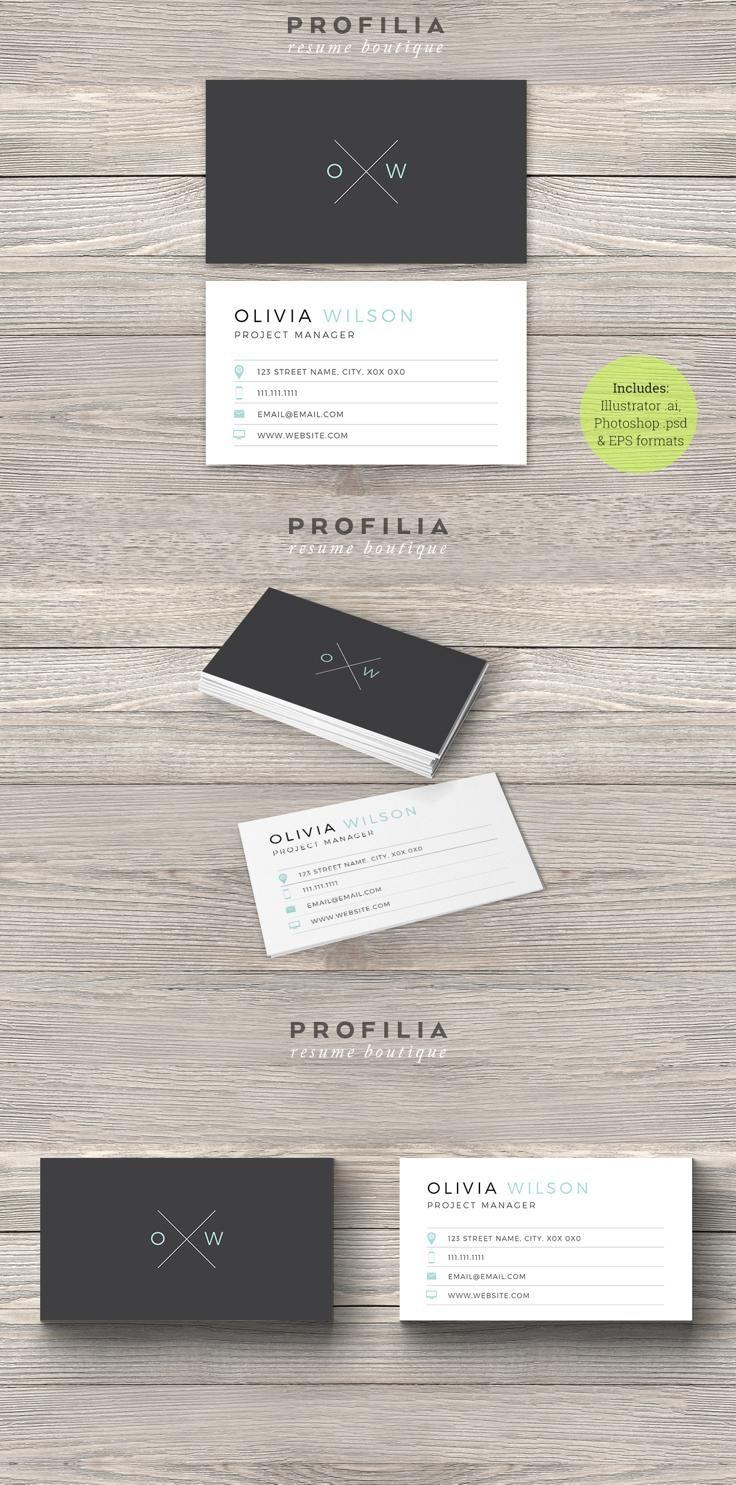 #businesscard #design from Profilia Resume Boutique   DOWNLOAD: https://creativemarket.com/Profilia_Resume/660942-Modern-Business-Card-Template?u=zsoltczigler