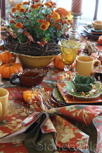 Stonegable Fall Brunch Tablescape Who 39 S Turn Is It To