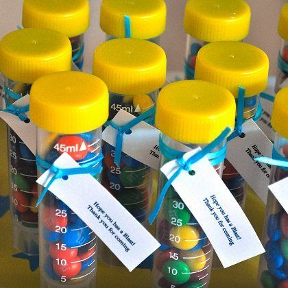 Test Tube Science Party Favors