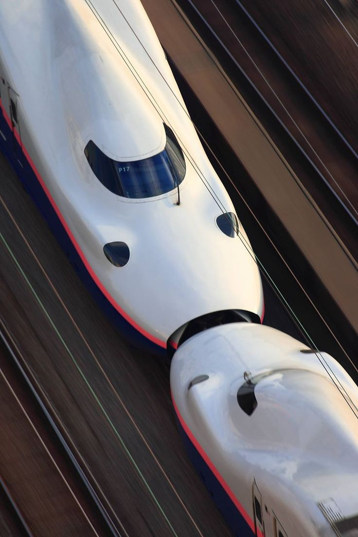Japanese Shinkansen bullet trains