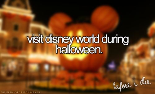 In elementary we would watch a Halloween sing-a-long video situated in Disneyland and it always looked so fun!