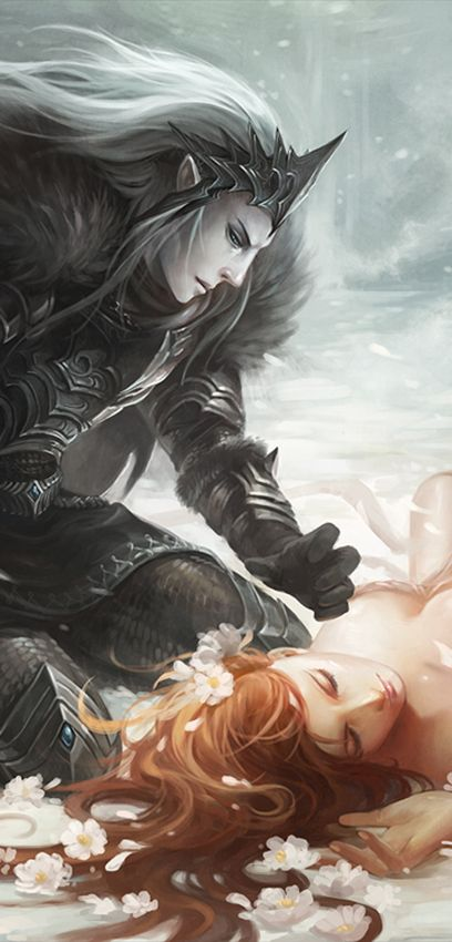 hades and persephone 2 by *sandara on deviantART (detail)