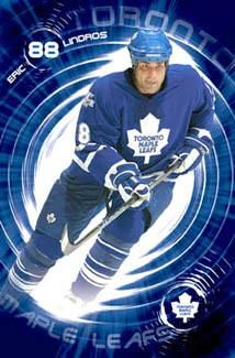"""Eric Lindros """"Big Blue"""" Toronto Maple Leafs Poster - Costacos 2005"""