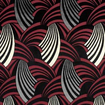 Art deco fabric option for recovering some dining room chairs.