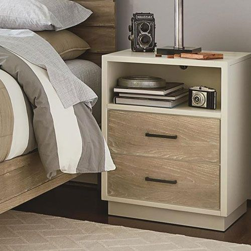 Wooden nightstand with white lacquer for the modern bedroom | www.bocadolobo.com #bocadolobo #luxuryfurniture #exclusivedesign #interiodesign #designideas #bedroomideas #nightstandideas #nightstanddesign #modernnightstand