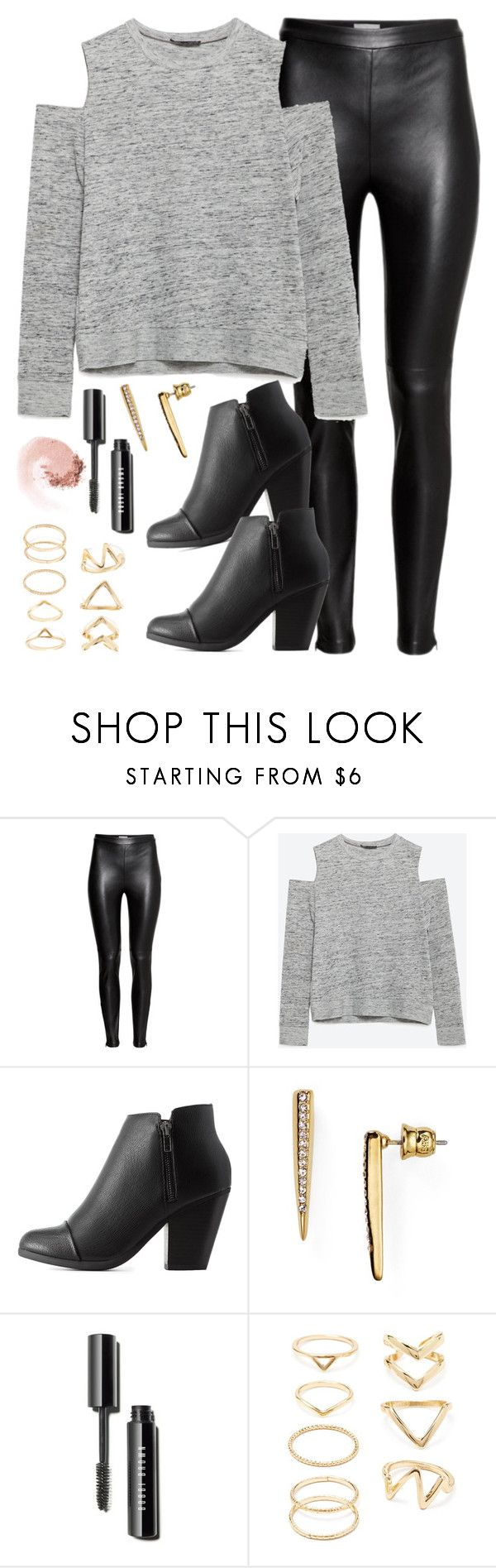 """""""Edgy Hanna Marin inspired house party outfit"""" by liarsstyle ❤ liked on Polyvore featuring H&M, Zara, Charlotte Russe, ABS by Allen Schwartz, Forever 21, NARS Cosmetics, NightOut and WF"""