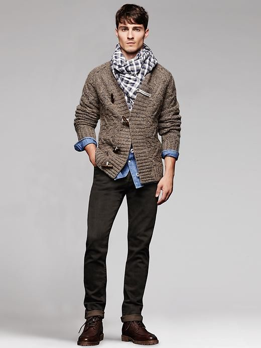 Heritage Cable Knit Toggle Cardigan Product Image Mens