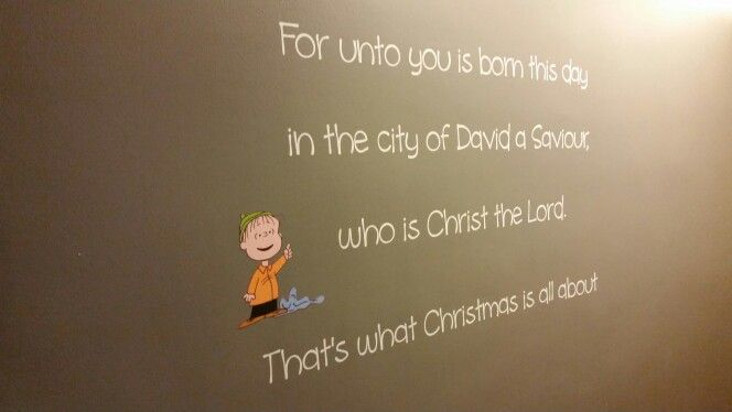 Linus - Charlie Brown Christmas wall decal. First wall decal I ever made and still my favorite