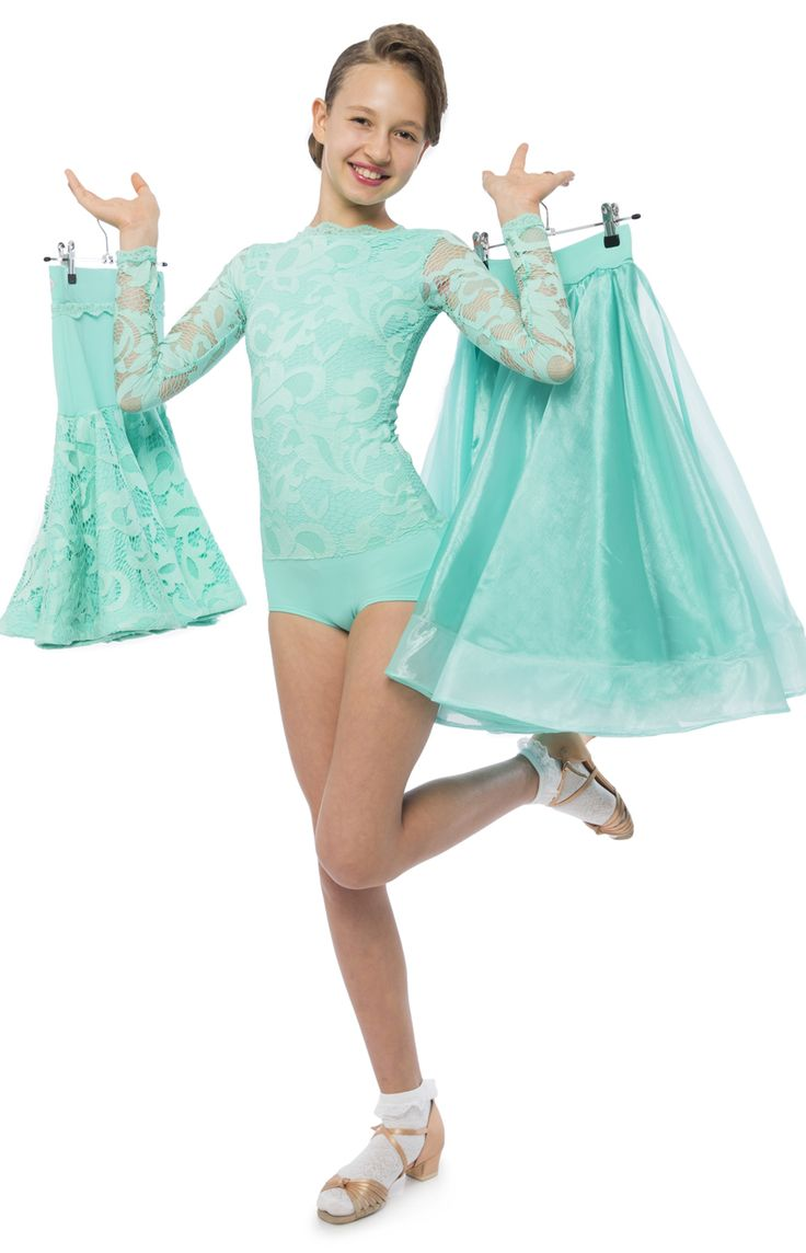 Elsa juvenile 3 piece competition dress