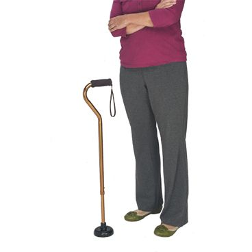 Juvo Premium Self Standing Cane Tip :: extra wide base for improved cane stability