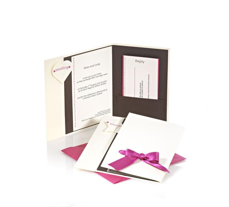 Chocolate Rose wedding invitations  www.indigoflash.co.uk
