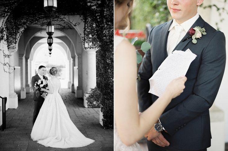 Peaches & Twine Photography - Ramsland Wedding - Omni Resort Montelucia Wedding Phoenix AZ - Phoenix Arizona Fine Art Film Wedding Photographer - Fall Wedding First Look