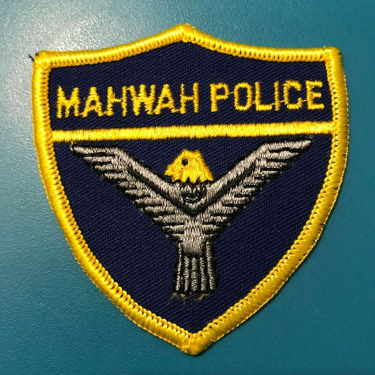 Manwah police bergen county new jersey nj hat size patch