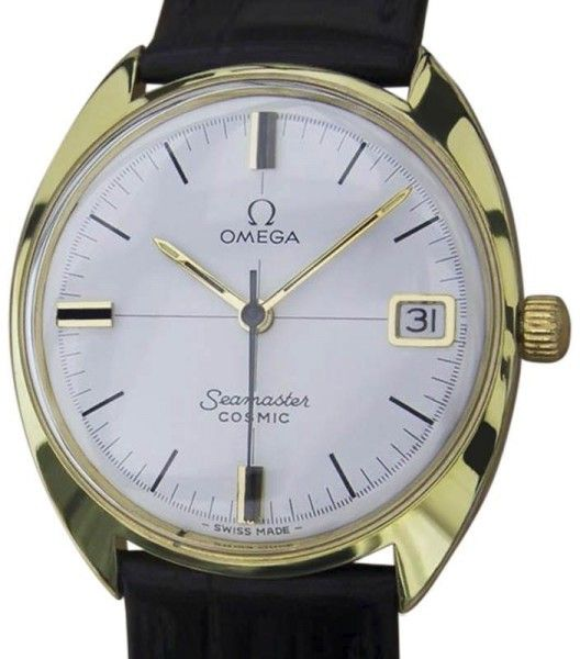 Omega Seamaster Cosmic Gold Plated Swiss Made Manual Mens 33mm Watch 1960s