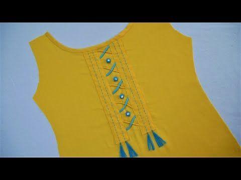 Latest Stylish Neck Design (Easy Way) Cutting And Stitching - YouTube