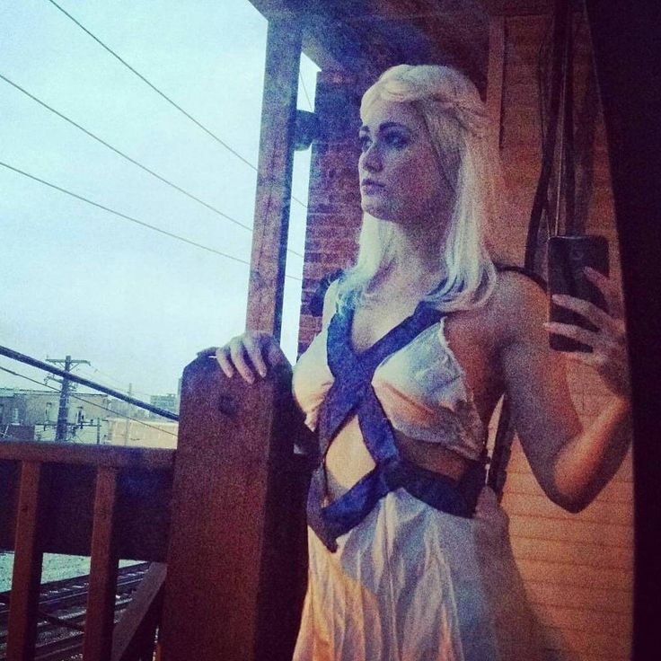 """""""Daenerys Stormbornof the House Targaryen, First of Her Name, the Unburnt, Queen of the Andals and the First Men, Khaleesi of the Great Grass Sea, Breaker of Chains, and Mother of Dragons""""... And Selfie Queen' - Khaleesi (probably)  #got #gotcosplay #tbt I really need to upgrade my Khaleesi costume but I want to do a different dress, I think."""