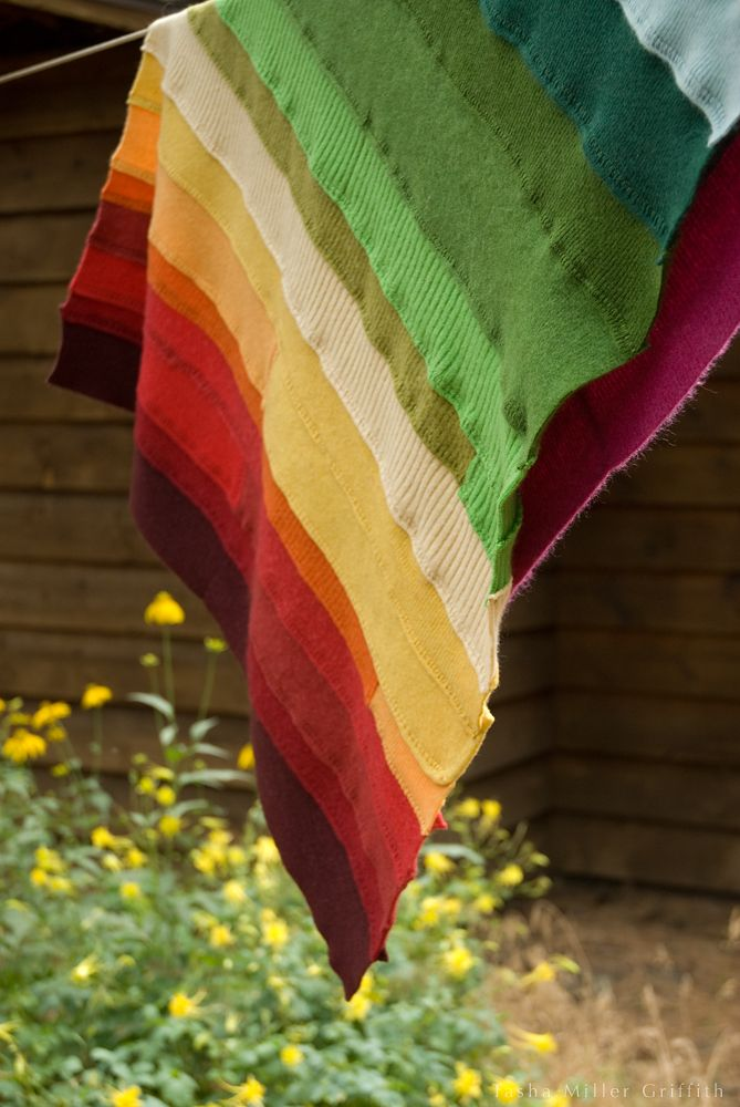cashmere quilt with thrift store sweaters