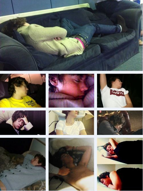 I can't believe I'm pinning a collage of Harry Styles sleeping...OH WELL!