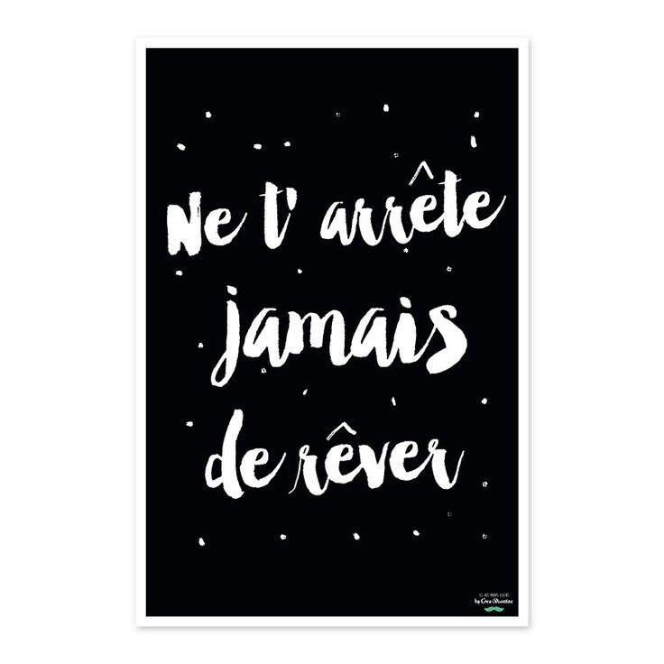 """Affiche Créabisontine """"Ne t'arrête jamais de rêver"""" pour Label'tour"""