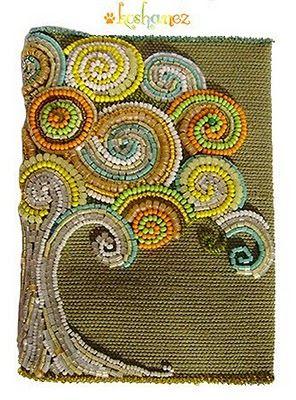 beadwork book journal cover