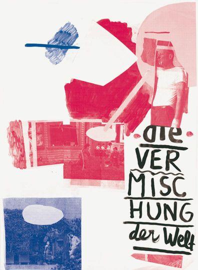 Geoffroy Pithon, affiche «Ein Plakat ist eine Fläche die ins Auge springt» («Une affiche est un lieu qui attire l'oeil»), workshop sur l'affiche dans la ville, KHB Weissensee (Berlin), A1, jet d'encre et sérigraphie, décembre 2010