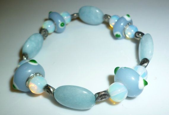 Robin Egg Blue Bracelet by RoseyCreek on Etsy, $8.00