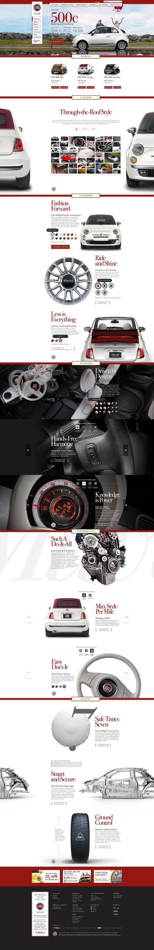 Fiatusa.com Website Design by Antonio Caballero, via Behance