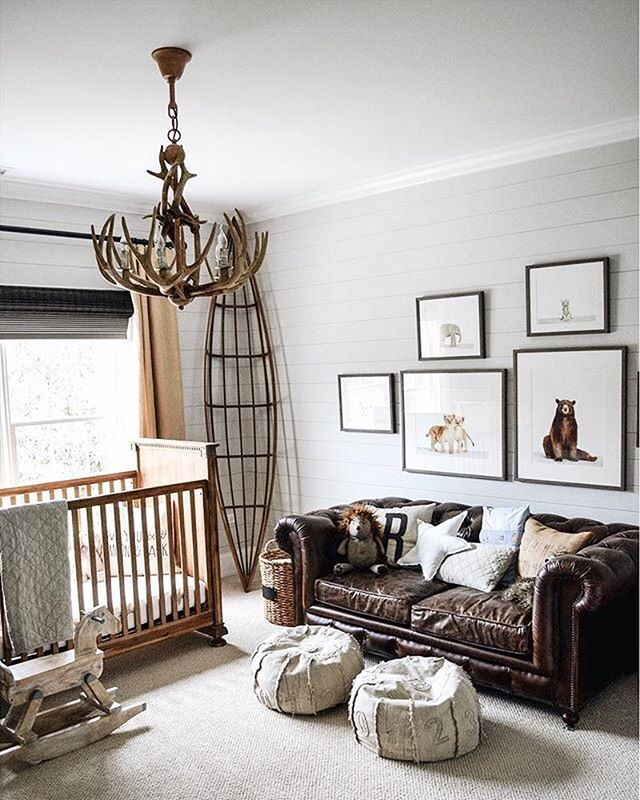 How Comfy Yet Chic Is This Rustic Nursery Design