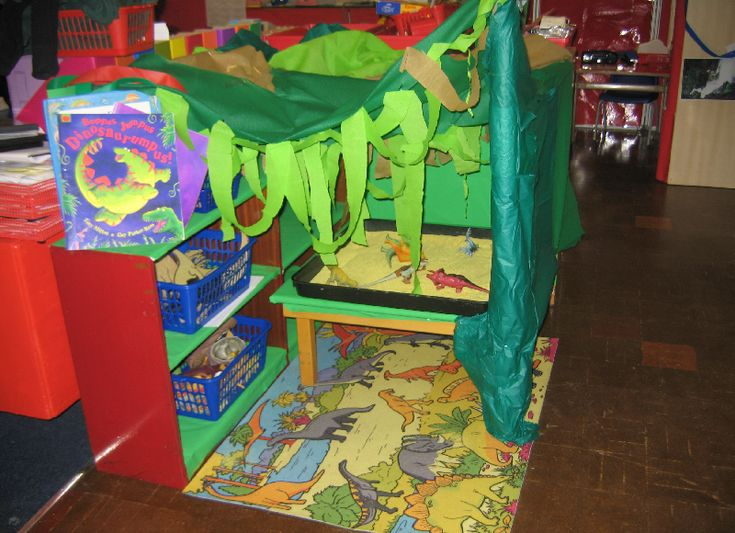 Dinosaur small world area classroom display photo - Photo gallery - SparkleBox