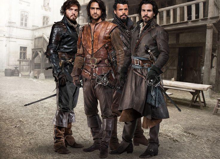 The Musketeers - Series II photos via BBCOne: Athos, D'Artagnan, Porthos & Aramis