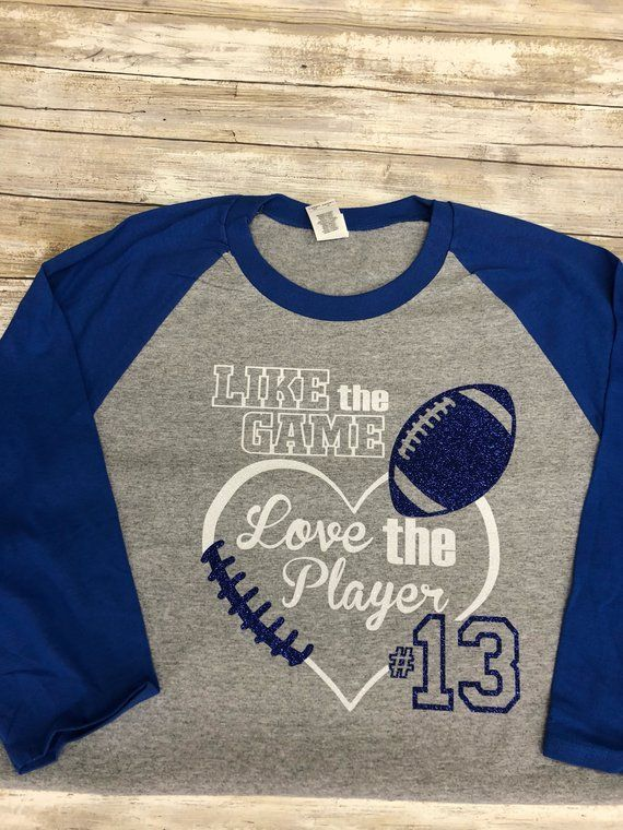 Download Like the Game Love the Player Football Shirt Glitter ...