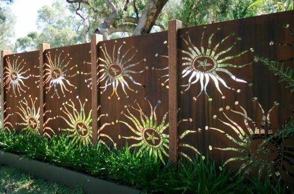 metal garden fence flower patterns figures