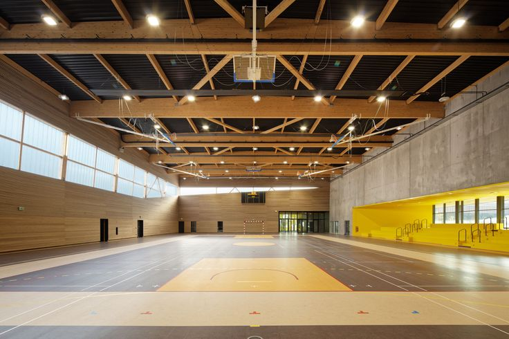 Moulins Lower Secondary School and Cultural Center,© Takuji Shimmura