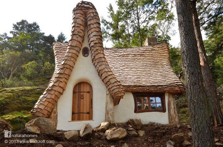 Earth Bag home. Like a gnome house out of a fairy story.