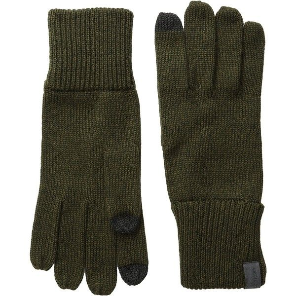 Arc'teryx Diplomat Gloves (Caper/Dark Moss) Wool Gloves featuring polyvore, women's fashion, accessories, gloves, arc teryx gloves, wool gloves and woolen gloves