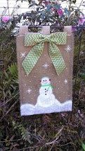 Hand painted burlap garden flag 12 x 18 single by TheBurlapFlag, $25.00