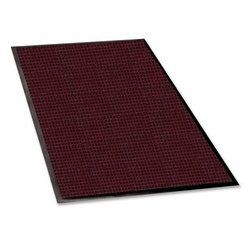 Genuine Joe Indoor/Outdoor Mat, Rubber Cleated Backing, 3 by 5-Feet, Burgundy by Genuine Joe. $64.89. Water guard mat is designed for indoor and outdoor use. Raised border keeps water and dirt in the mat and off the floor. Bi-level construction keeps dirt and moisture trapped beneath the shoe level. Water guard mat is designed for indoor and outdoor use. bi-level construction keeps dirt and moisture trapped beneath the shoe level. raised border keeps water and dirt in...